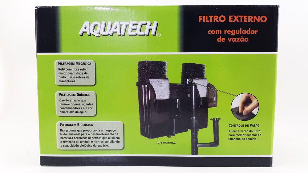 Filtro Externo para Aquarios Modelo FE 100 Aquatech Vigo Ar - Aquários de até 230 litros - Vazão 700L/h 127v