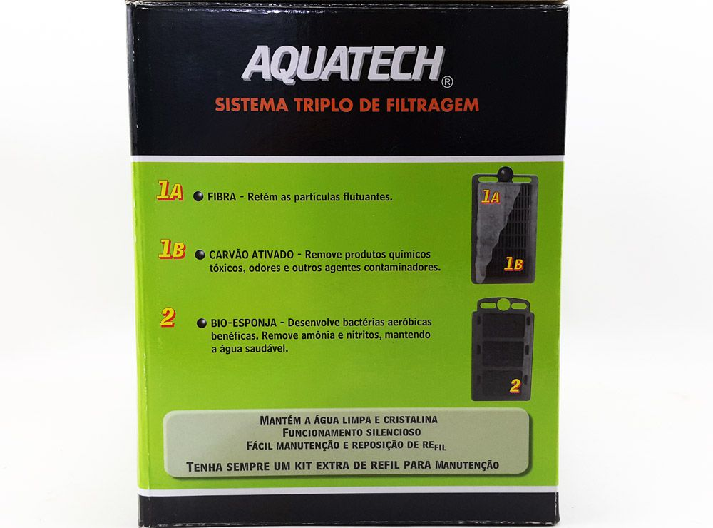 Filtro Externo para Aquarios Modelo FE 100 Aquatech Aquários de até 230 litros - Vazão 700L/h - 220v