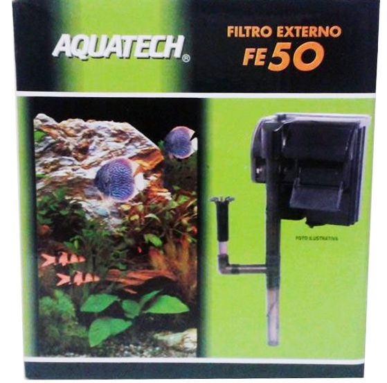 Filtro Externo para Aquarios Modelo FE 50 Aquatech Vigo Ar - Aquários de até 130 litros - Vazão 400L/h 220v