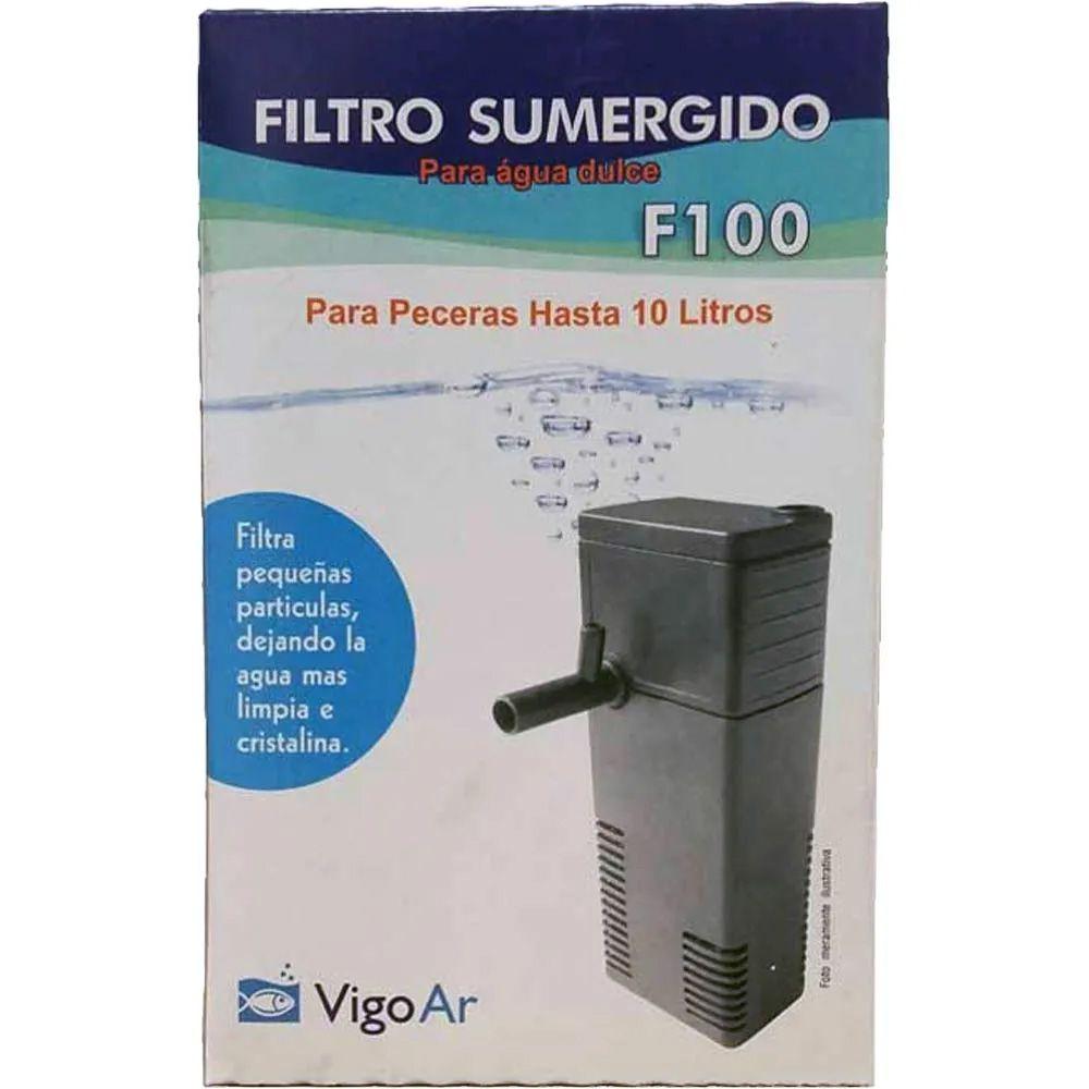 Filtro De Aquário Submerso F100 para Aquários até 20 litros Vigo Ar