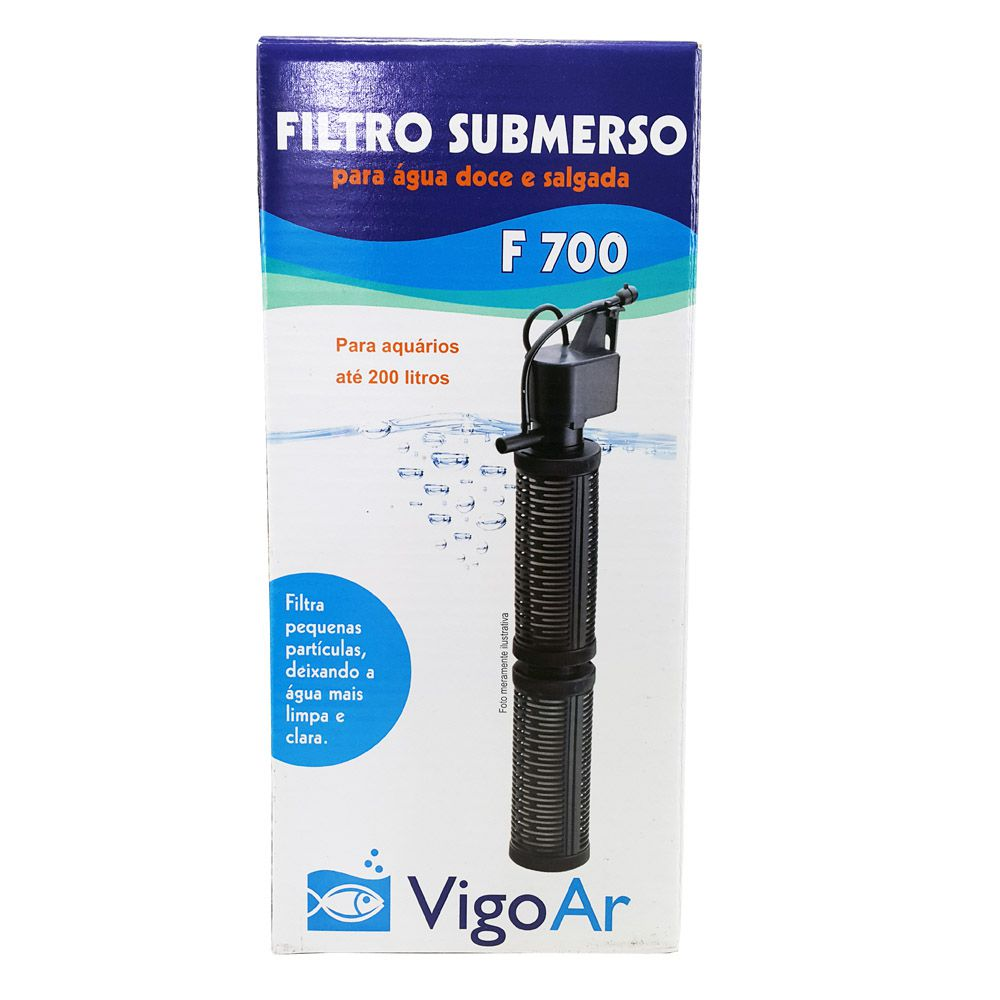 Filtro Submerso F700 para Aquários até 200 litros Vigo Ar 220v