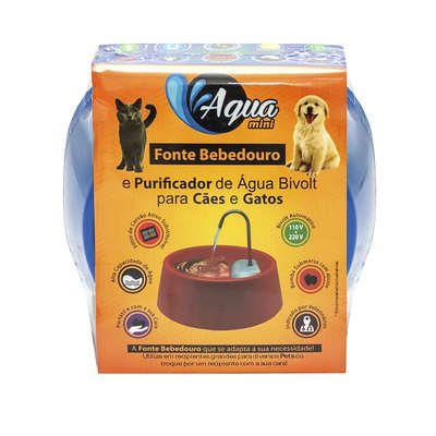 Fonte Bebedouro de água Automática Elétrica para Cães e Gatos Amicus Aqua Mini Bivolt Azul