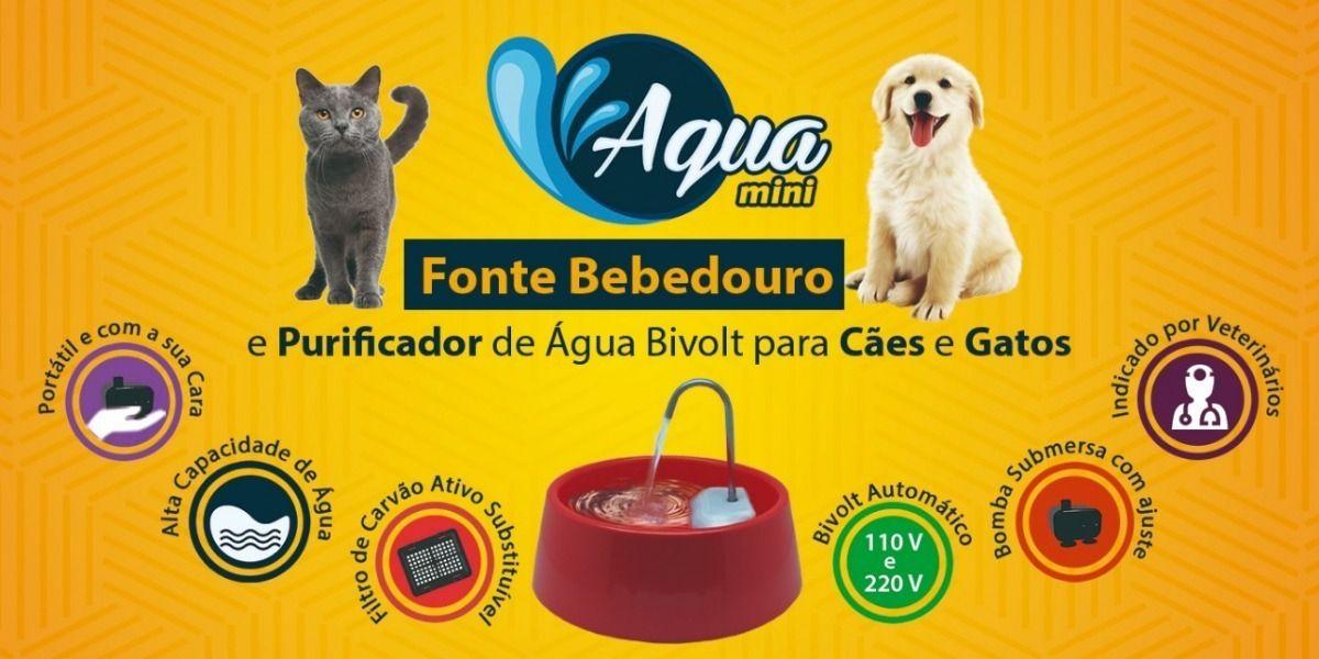 Fonte Bebedouro Elétrico para Cães e Gatos Amicus Aqua Mini Bivolt Branca