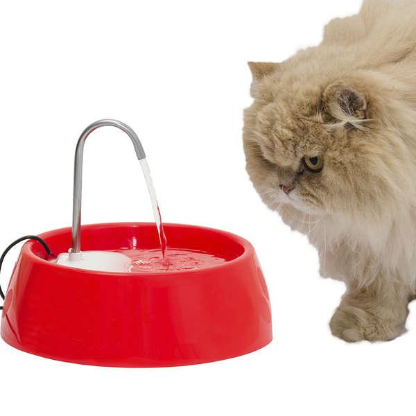 Fonte Bebedouro de água Automático para Cães e Gatos Amicus Aqua Mini Bivolt Vermelha