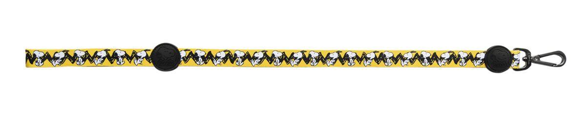 Guia para Cachorro Snoopy e Charlie Brown Amarela - Guia com mosquetão 1,20m P/M Snoopy Zooz Pet