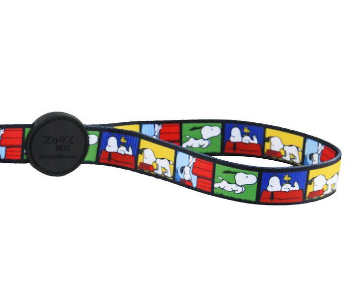 Guia para Cachorro Snoopy Quadrinhos Film Color - Guia com mosquetão 1,20m P/M Snoopy Colorida Zooz Pet