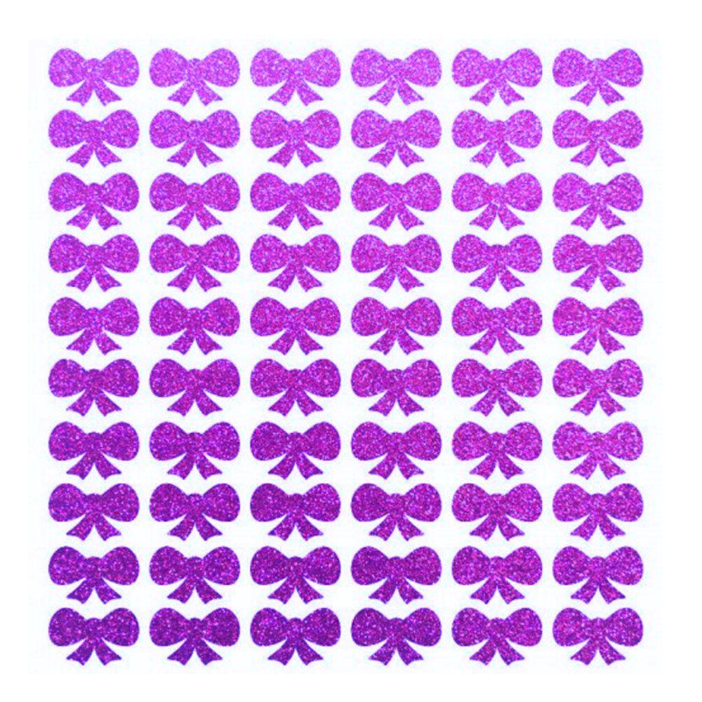 Kit 4 Cartelas adesivo Glitter brilhante para cães gatos: Coração Vermelho, Florzinha Vermelha, Laço Dourado, Laço Roxo. Total 272 unidades 1cm