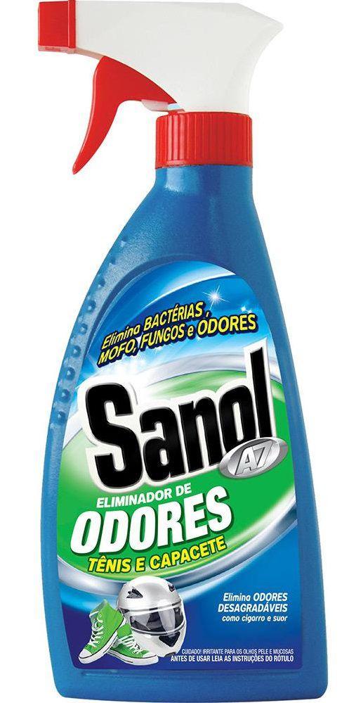 Eliminador de Odores desagradáveis (mofo, suor, chulé, fumaça, etc) Sanol A7 Combo com 6 unidades 330ml