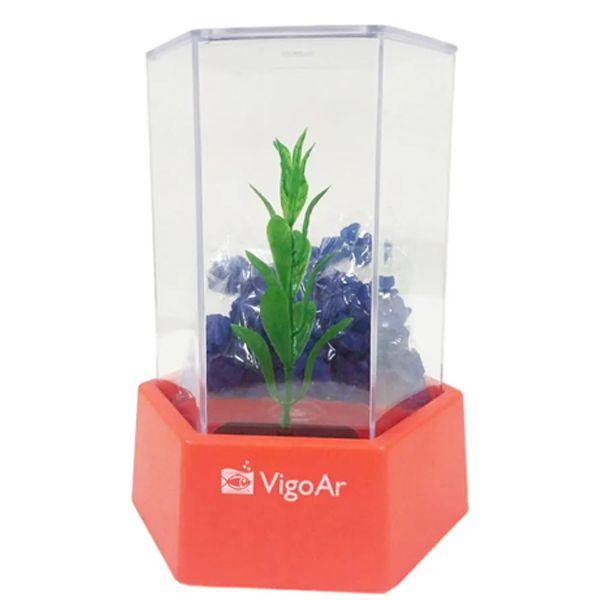 Kit aquário para peixe Betta - Beteira plástica Betta-Flex mini VigoAr 600ml - Transparente / Vermelho