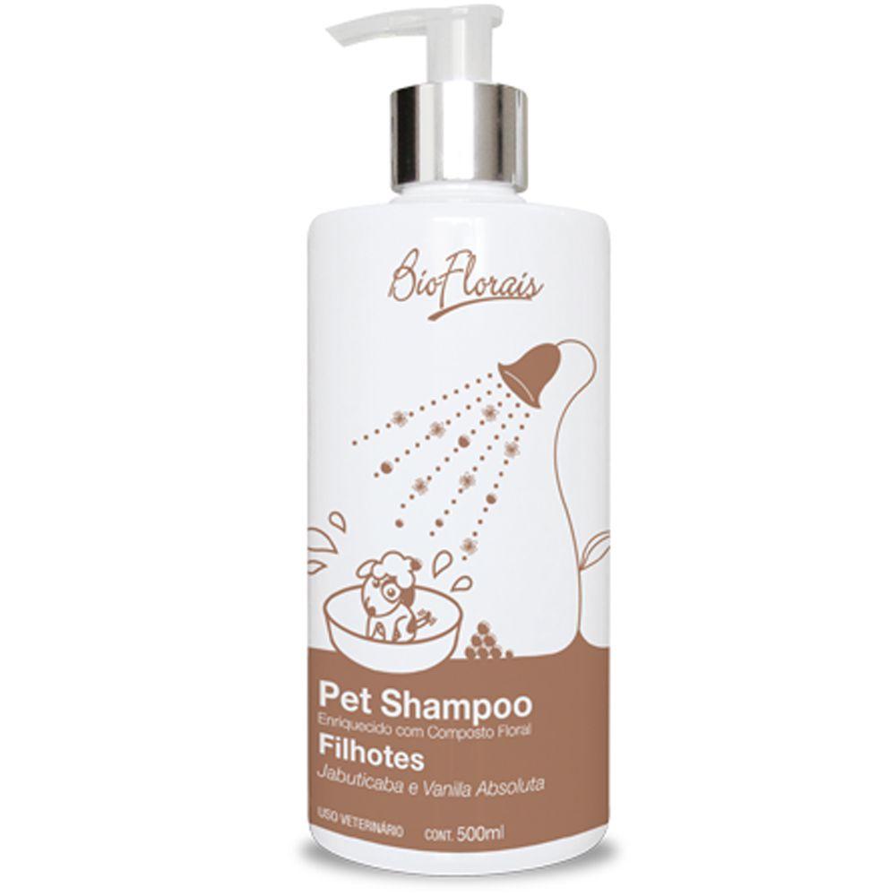 Kit Banho para cães Filhotes com essencia Floral para Cachorro filhote BioFlorais - Shampoo Condicionador Cachorro Baby