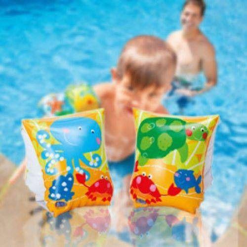 Kit Boia Bote Infantil com Cobertura Arraia Intex até 11kg + Boia de braço peixinho