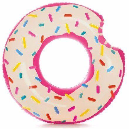 Combo Boias Infláveis para piscina divertidas: Cisne Branco Intex 57557 + Donuts Colorido Intex (Boia das Blogueiras Famosas)