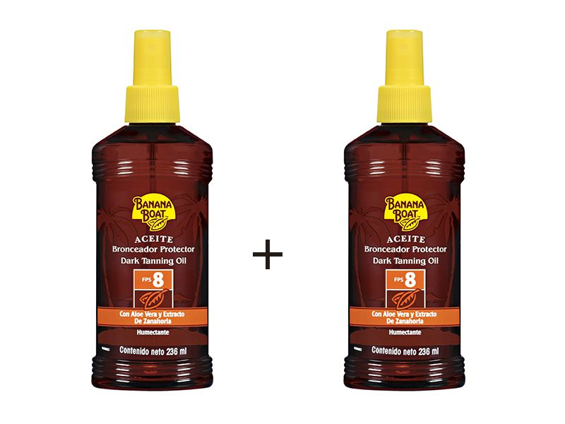 Kit com 2 unidades Bronzeador Protetor solar 8 fps Banana Boat Spray 236ml