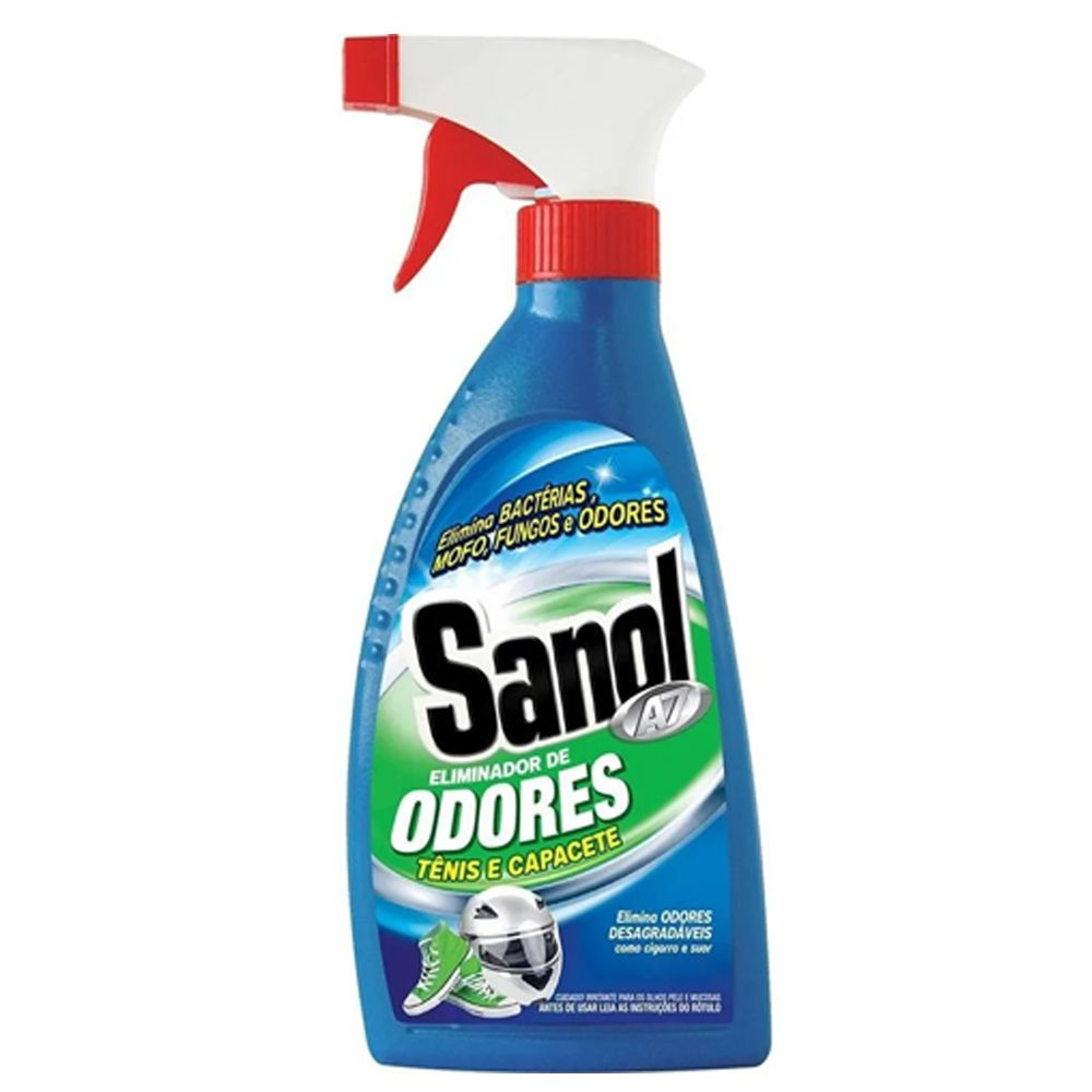 Kit com 3 Eliminador de Odores desagradáveis e 3 Anti Mofo (Eliminador de Mofo) Sanol A7 330ml
