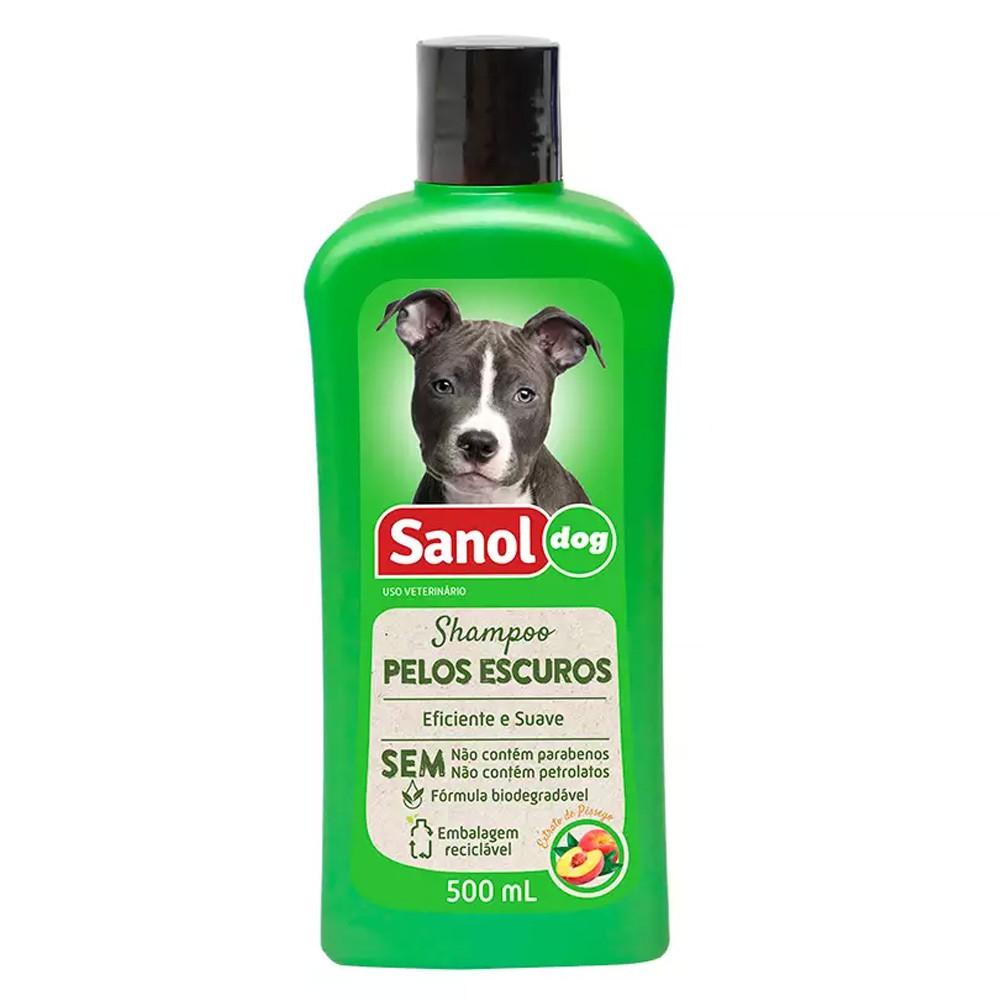 Kit Combo para banho em cães: Shampoo pelos escuros e Condicionador Neutro Sanol Dog