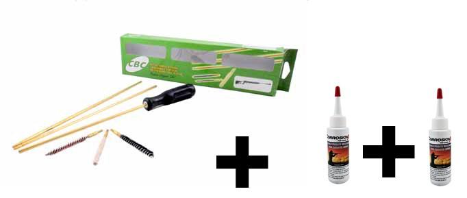 Kit De Limpeza Cbc Para Carabina 5,5mm + 2 Oleos Corrosionx