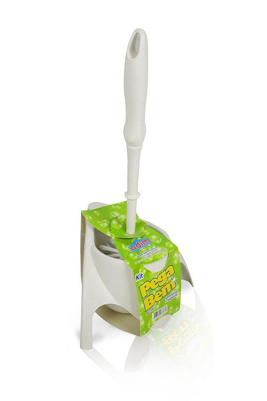 Kit escova Sanitária com Suporte para escova Pega Bem Odim