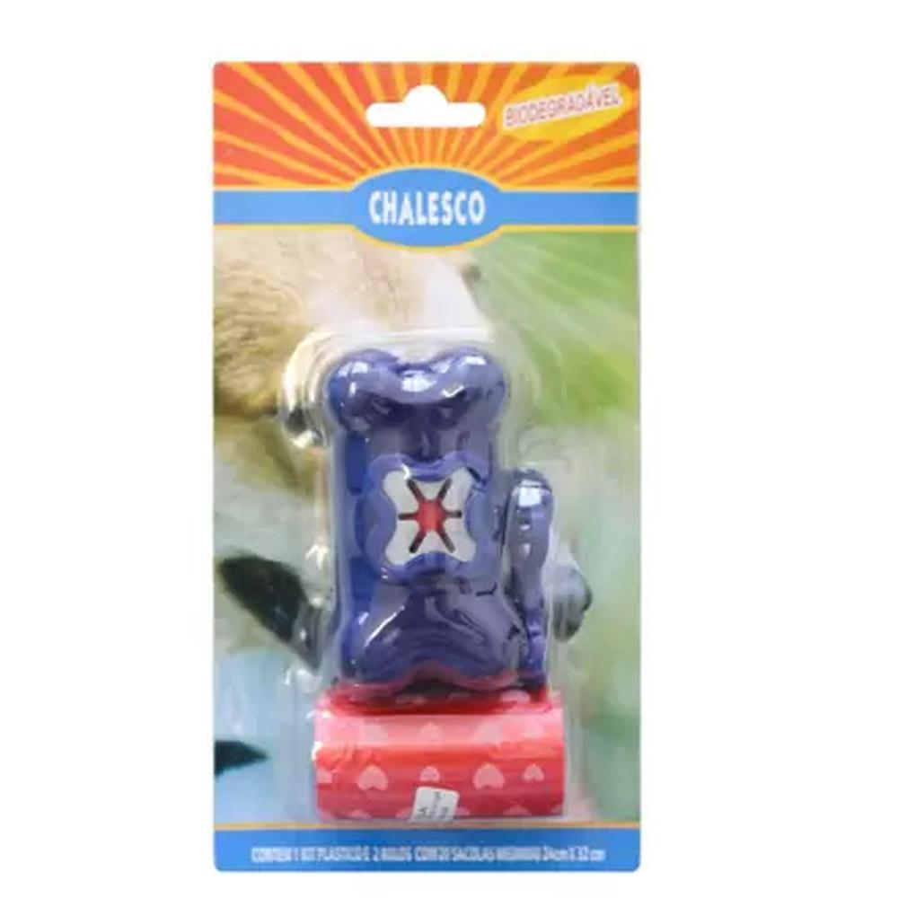 Kit Higiene Coletor de Fezes para de cães - Chaveiro Cata caca com saquinho Chalesco
