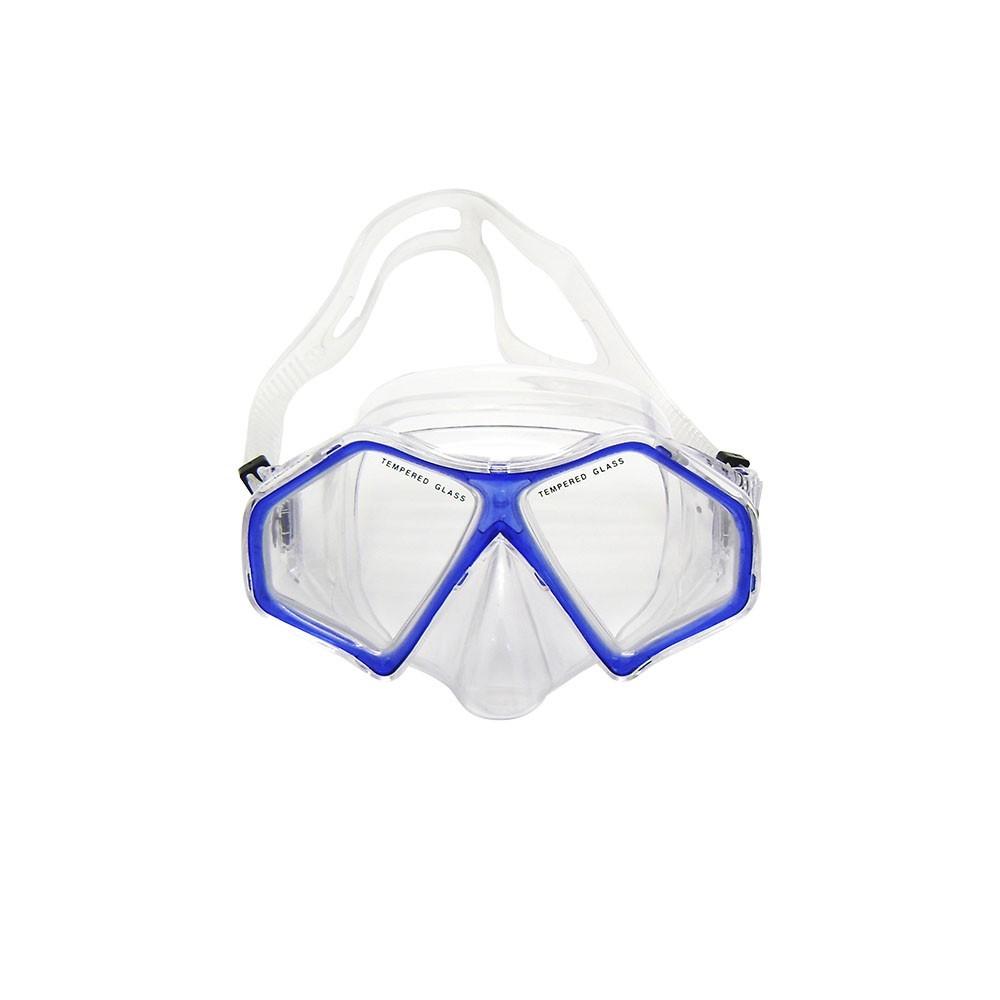 Kit Máscara + Respirador NTK Spider Azul