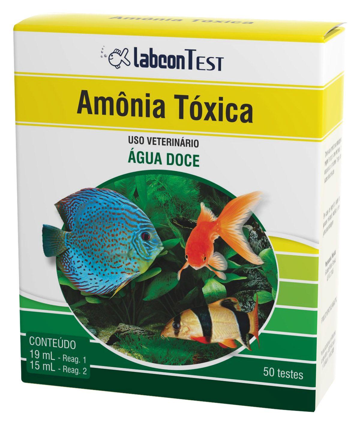 Labcon Teste Amônia Tóxica para aquário Água Doce