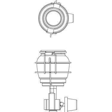 Lampião A Gás Com Acendedor automático modelo Cairo Nautika