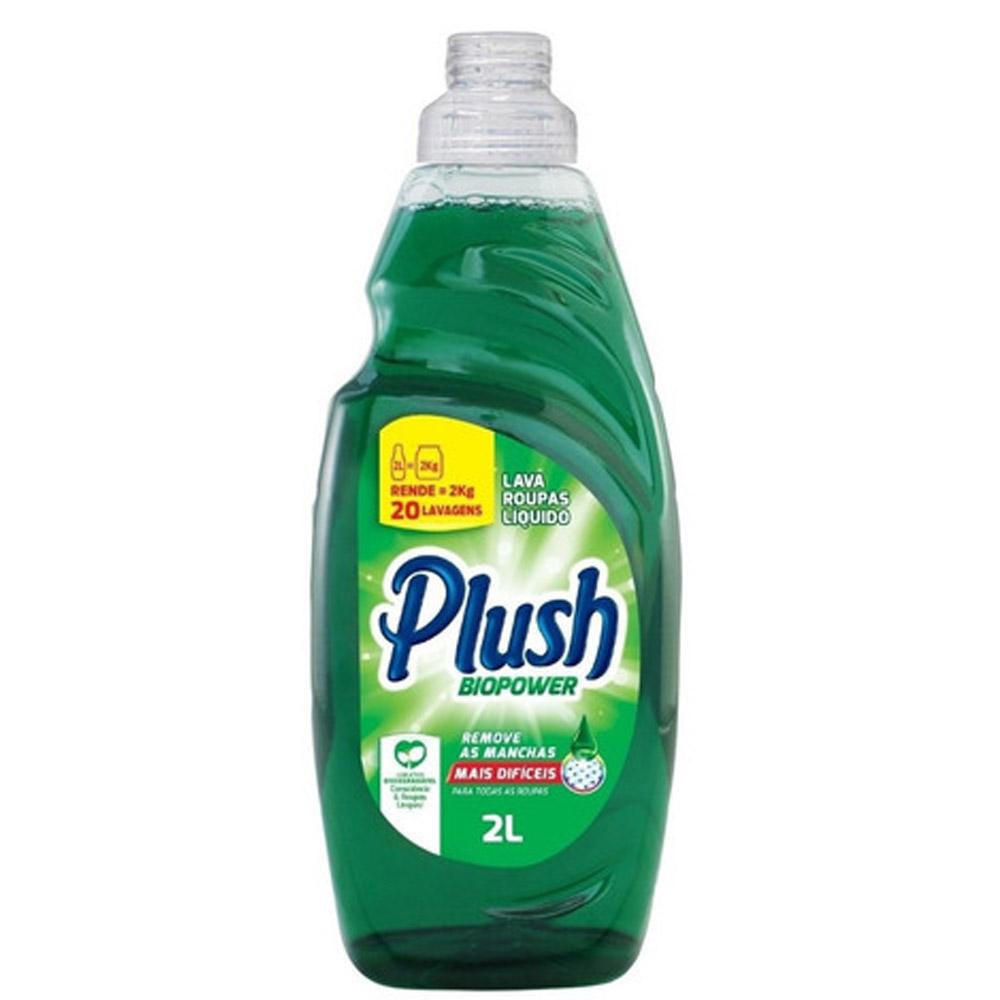 Lava Roupas Sabão Liquido para limpeza profunda de roupas Plush Biopower 2L