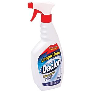 Limpa Limo Remove limo de Ambientes em Spray Gatilho Daclor com Cloro Ativo Sanol 500ml