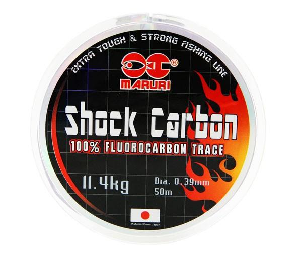 Linha de Fluorcarbono Maruri Shock Carbon 0.39mm