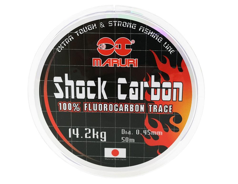 Linha Fluorcarbono Maruri Shock Carbon 0.45mm