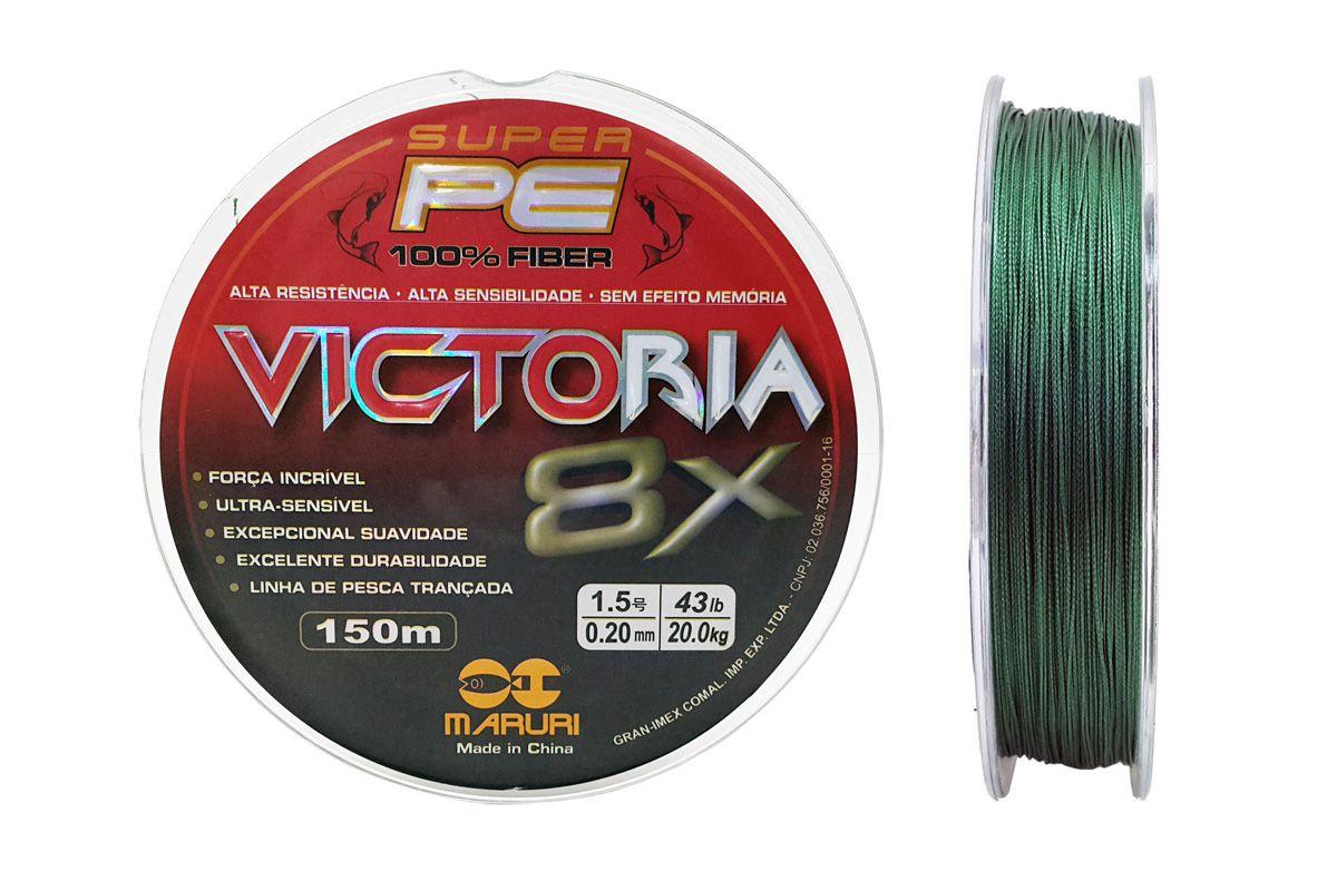 Linha Multifilamento Victoria Super 8x 0,20mm 150m
