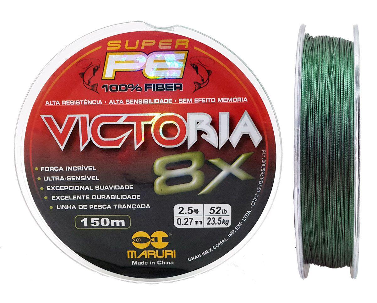Linha Multifilamento Victoria Super 8x 0,27mm 150m