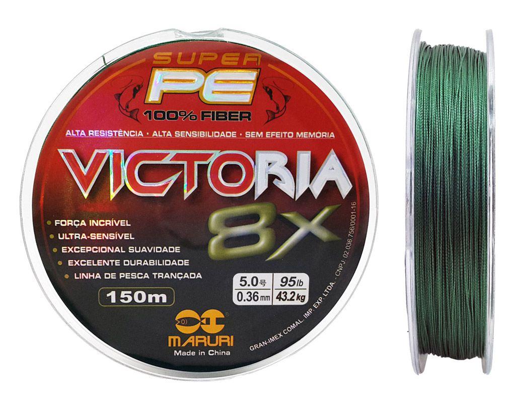 Linha Multifilamento Victoria Super 8x 0,36mm 150m
