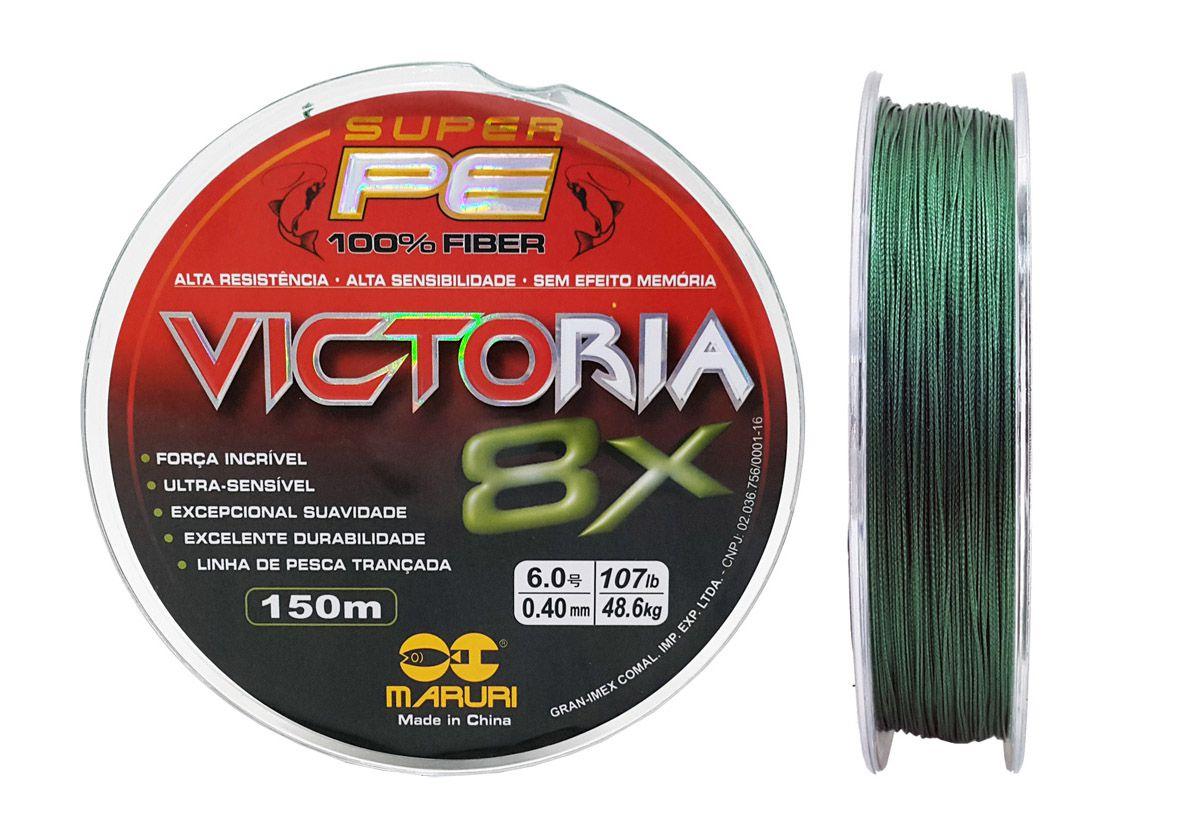 Linha Multifilamento Victoria Super 8x 0,40mm 150m