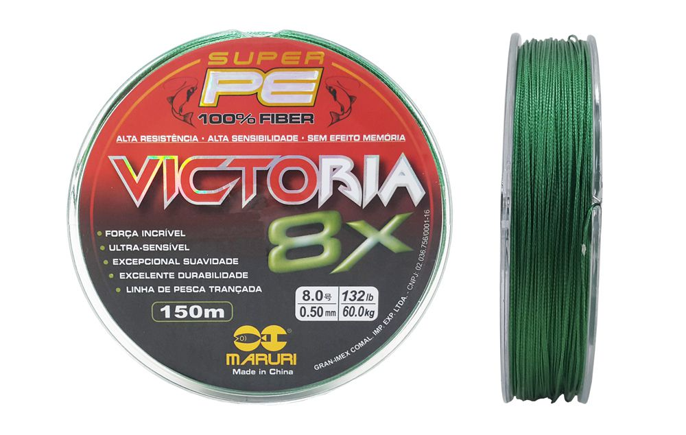 Linha Multifilamento Victoria Super 8x 0,50mm 150m