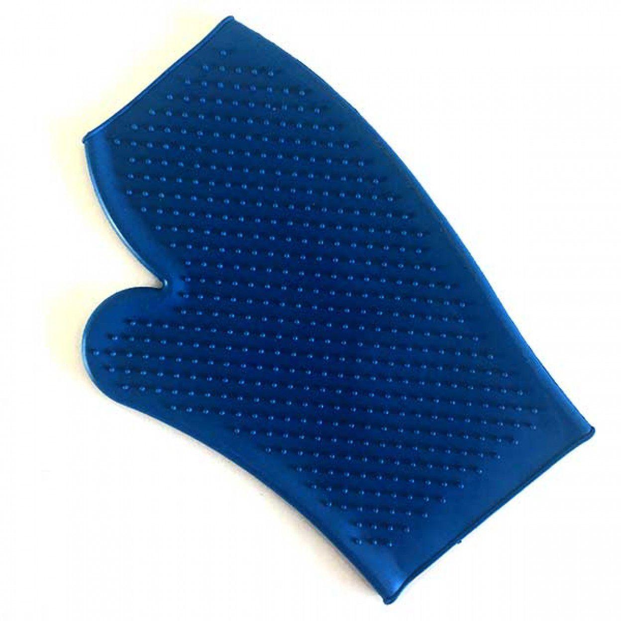 Luva Removedor de Pelos de cachorro e gato Chalesco Azul