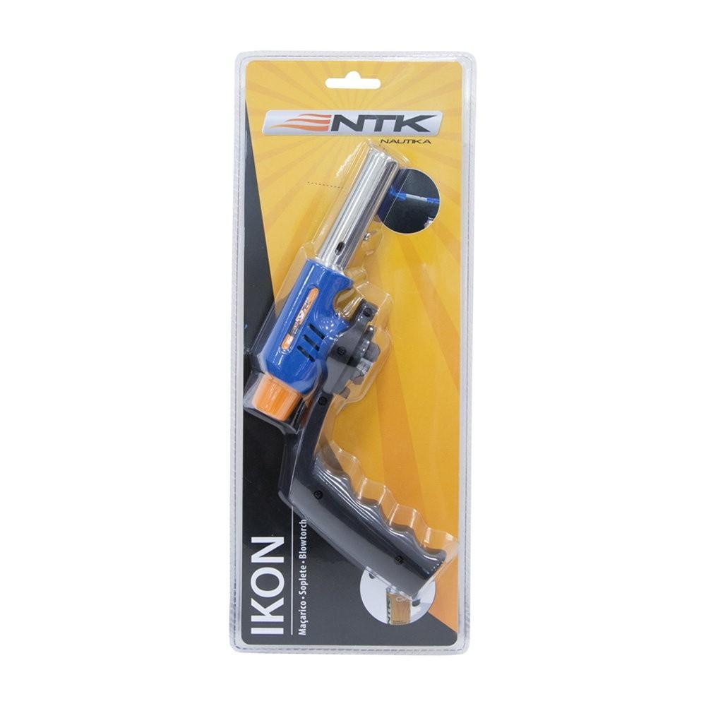 Maçarico Compacto Ikon NTK com cartucho de Gás incluso