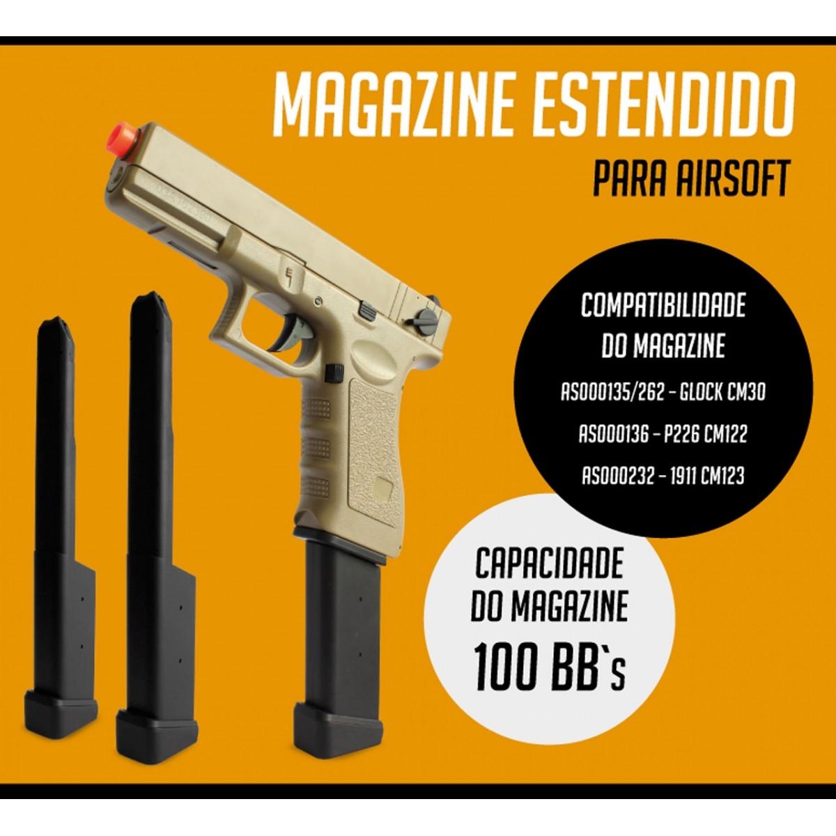 Magazine Estendido Cyma para Airsoft
