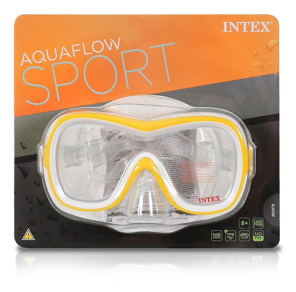 Máscara para mergulho e Natação Amarela Aquaflow Sport Wave Rider Mask Intex 55978