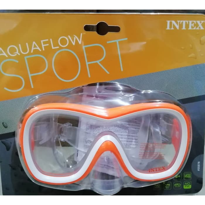 Máscara para mergulho e Natação Aquaflow Sport Wave Rider Mask - Máscara Ondas Intex 55978 Laranja