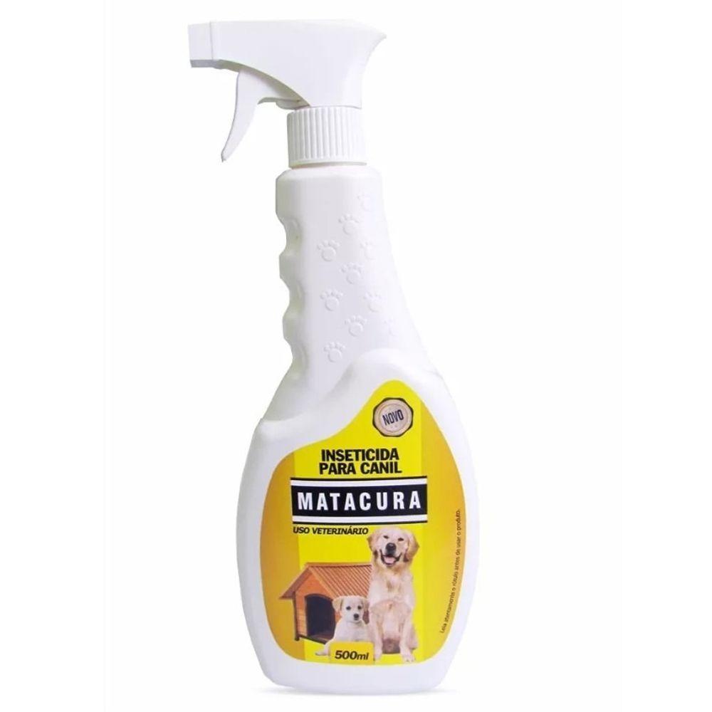 Matacura Mata pulga, carrapatos piolhos de ambientes. Inseticida em Spray para Canil - 500 ml