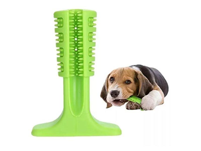 Mordedor e Escova de Dentes para Cães Super resistente - Escova dental canina mordedor Pet Clean Verde