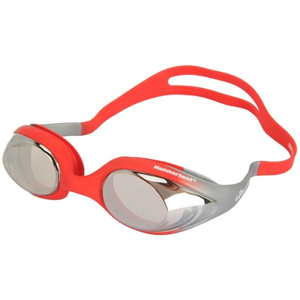 Óculos para Natação Espelhado anti embaçante Hammerhead Infinity mirror Comfort Vermelho/Prata