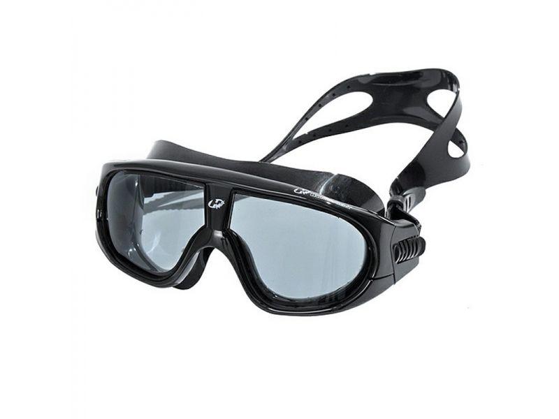 Óculos para Natação e esportes aquáticos Hammerhead Extreme Triathlon Lente anti embaçante, proteção UV Preto/Fumê