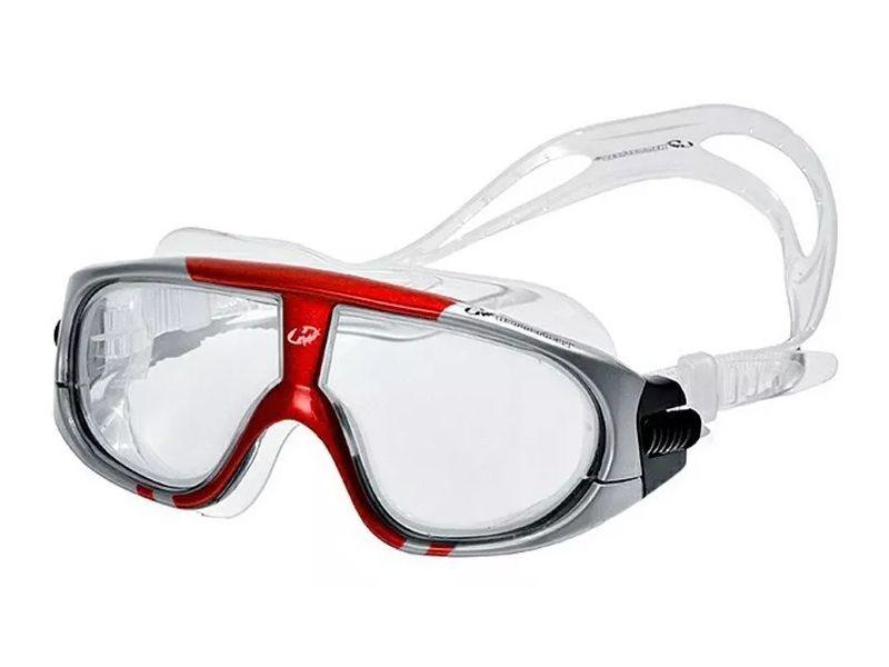 Óculos para Natação e esportes aquáticos Hammerhead Extreme Triathlon Lente anti embaçante, proteção UV Cinza/Vermelho