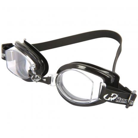 Óculos para Natação Hammerhead Vortex 1.0 Preto / Transparente proteção UVA/UVB