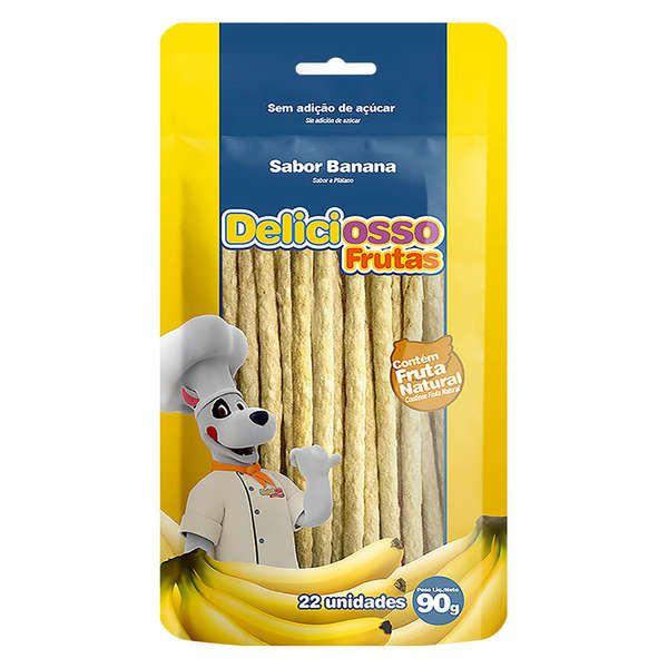 Osso para cães Ossinho Palitinho XisDog Deliciosso Frutas Banana 90g