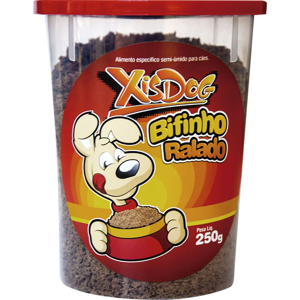 Petisco para Cachorro Bifinho de Carne ralado (ideal para misturar na alimentação seca ou úmida do cachorro) 250g
