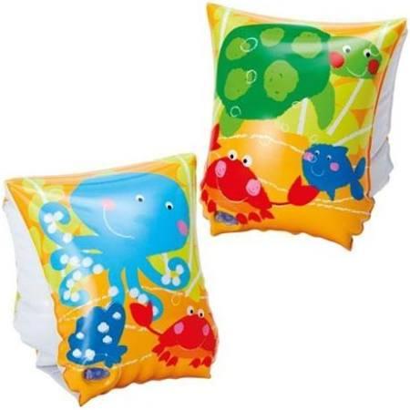 Par de Boia de Braço inflável para crianças 3 a 6 anos Peixinhos até 25kg 23x15cm Intex