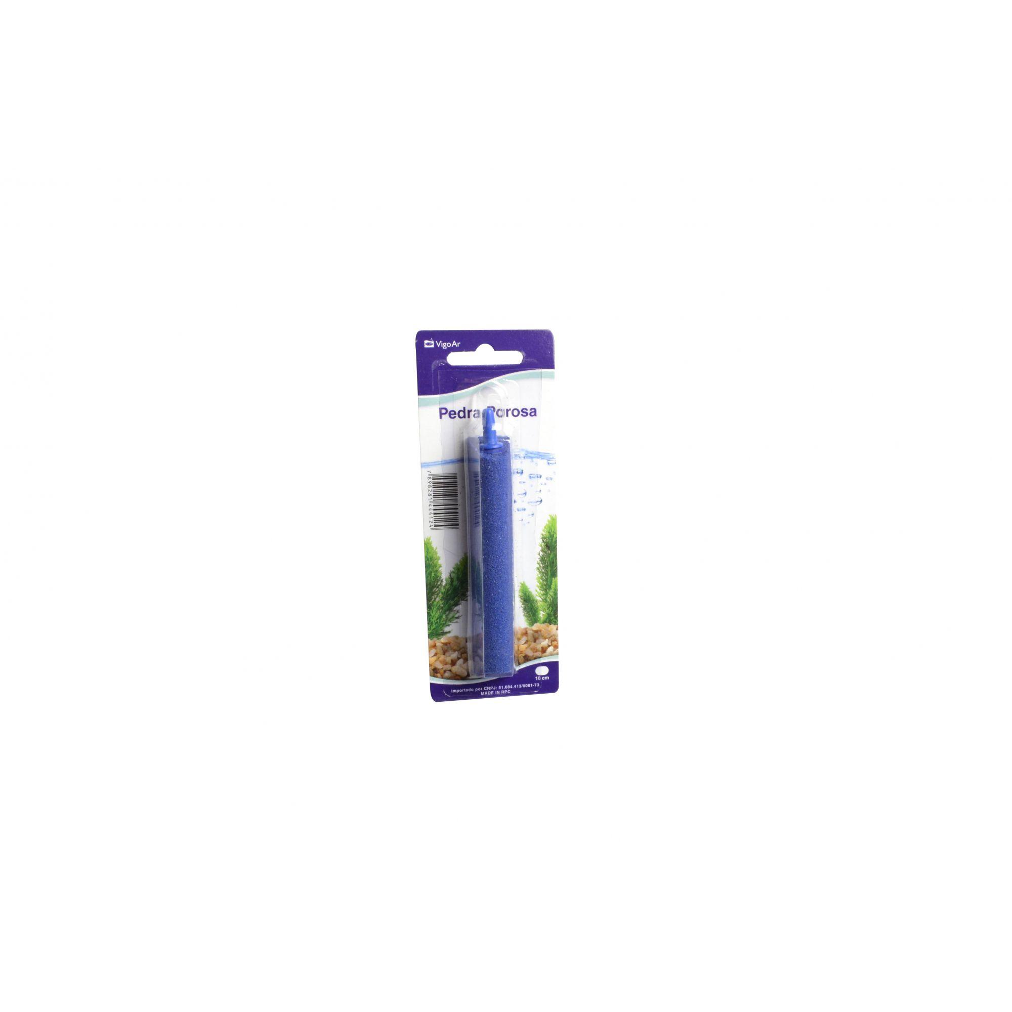 Pedra Porosa para aeração circulação do oxigênio na água em aquários 10cm Vigoar