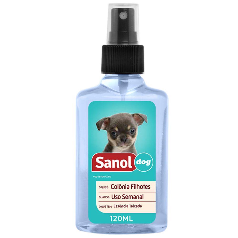 Perfume colônia para cães filhotes Sanol Dog  Cachorro Filhotes Cheirinho de bebê
